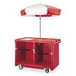 "Cambro CVC55158 Food Cart w/ Cover & Cutting Board, 55.19""L x 31.25""W x 93.5""H, Red"