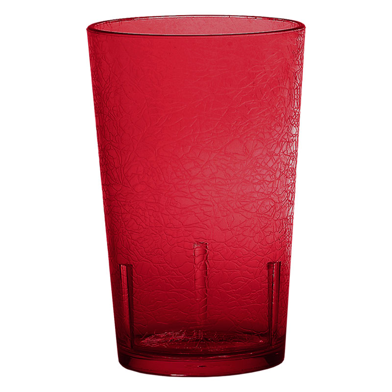 Cambro D8156 8-oz Del Mar Tumbler - Ruby Red