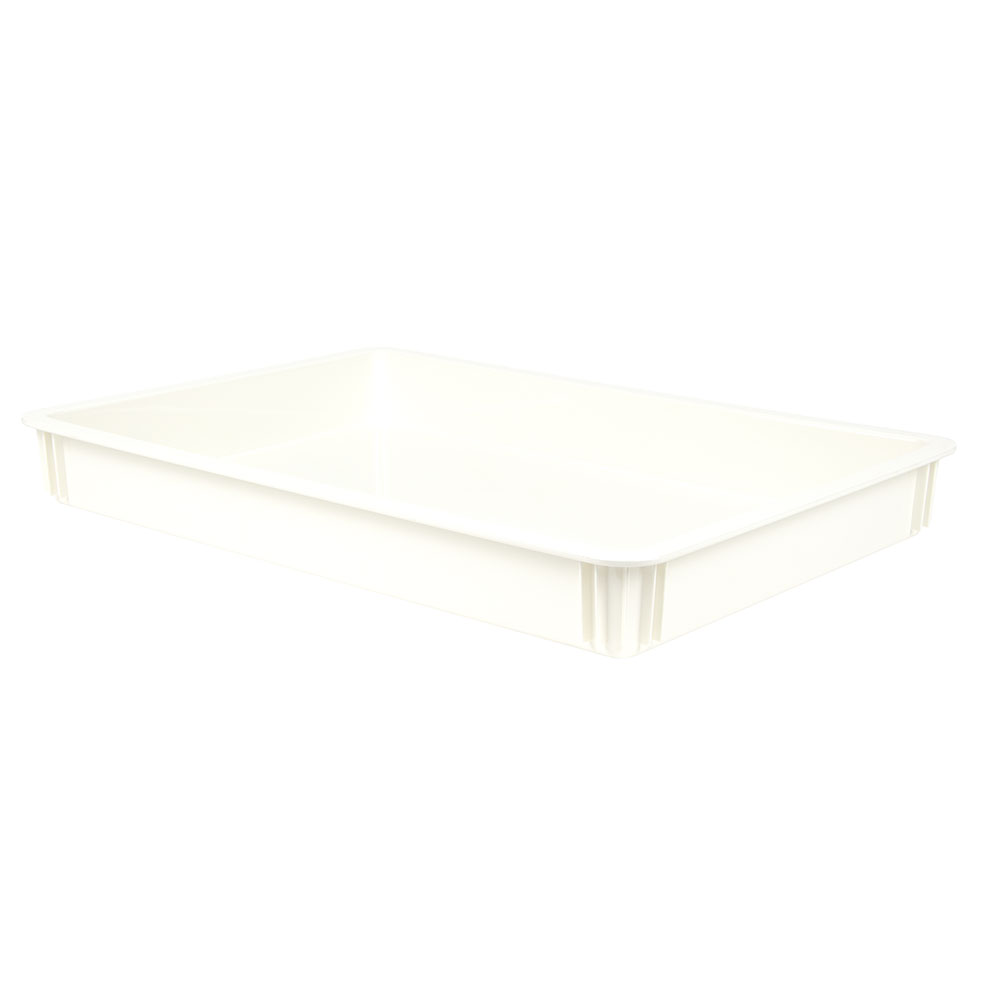 "Cambro DB18263CW148 Pizza Dough Box - 26x18x3"" White"