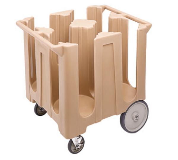 Cambro DC1225192 Dish Cart Poker-Chip Design 4 Column Restaurant Supply