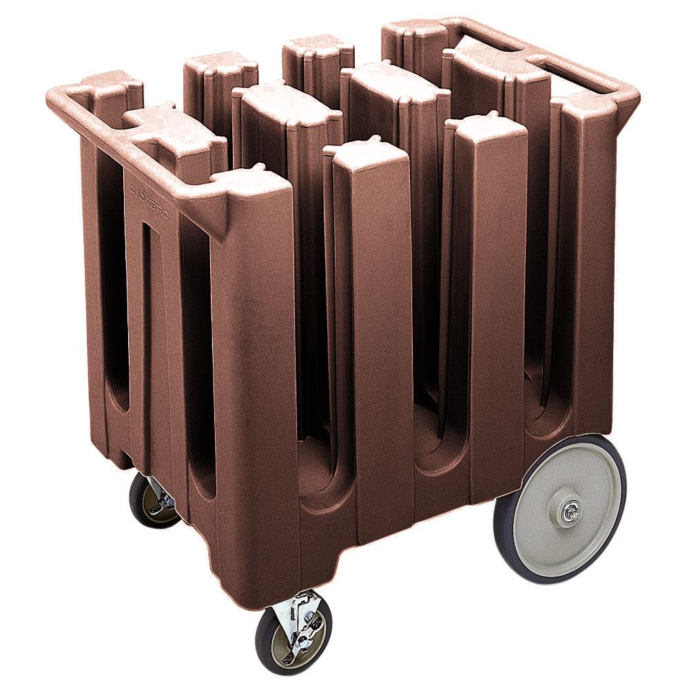 "Cambro DC575131 Dish Caddies Cart - 6-Columns, 5-3/4"" Max Dish Size, Dark Brown"