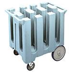 "Cambro DC575401 Dish Caddies Cart - 6-Columns, 5-3/4"" Max Dish Size, Slate Blue"