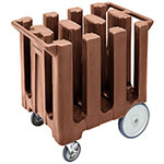 "Cambro DC700131 Dish Caddies Cart - 6-Columns, 7"" Max Dish Size, Dark Brown"