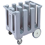"Cambro DC700191 Dish Caddies Cart - 6-Columns, 7"" Max Dish Size, Granite Gray"