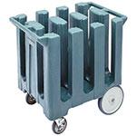 "Cambro DC700401 Dish Caddies Cart - 6-Columns, 7"" Max Dish Size, Slate Blue"