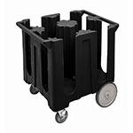 "Cambro DC825110 Dish Caddies Cart - 4-Columns, 8-1/4"" Max Dish Size, Black"