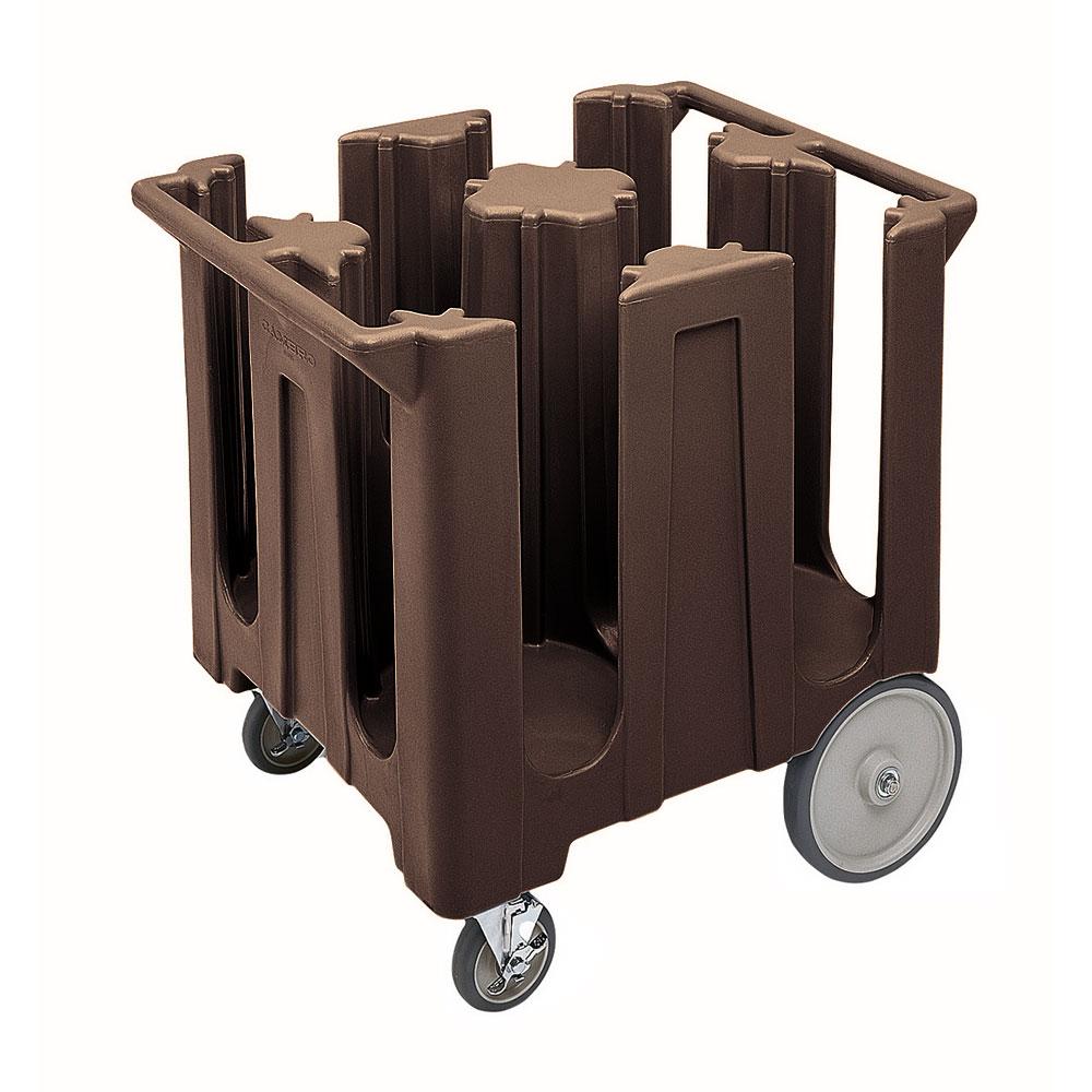 "Cambro DC825131 Dish Caddies Cart - 4-Columns, 8-1/4"" Max Dish Size, Dark Brown"