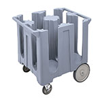 "Cambro DC825191 Dish Caddies Cart - 4-Columns, 8-1/4"" Max Dish Size, Granite Gray"