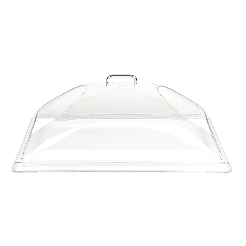 "Cambro DD1220BECW135 Display Dome Cover - Open Ends, 12x20"" Polycarbonate, Clear"