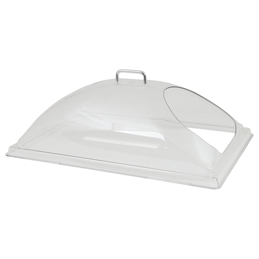 "Cambro DD1220ECW135 Display Dome Cover - Open End, 12x20"" Polycarbonate, Clear"