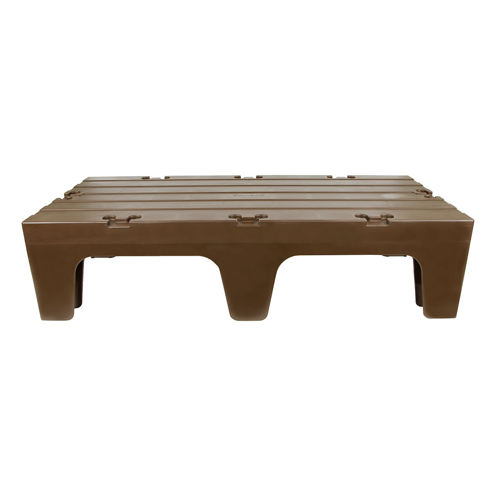 """Cambro DRS48131 S-Series Dunnage Rack - Solid Top, 21x48x12"""" Dark Brown"""