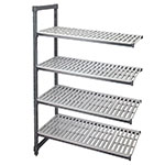 "Cambro EA184864 580 Camshelving Elements Add-On Unit - 18x48x64"" Brushed Graphite"