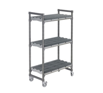 "Cambro EDRC244878PKG 24"" Drying Rack Cart - 3 Rack, Brushed Graphite"