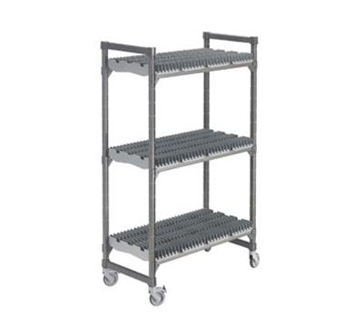 "Cambro EDRC246078PKG 24"" Drying Rack Cart - 3 Rack, Brushed Graphite"