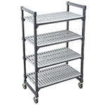 "Cambro EMU183670P 580 Polymer Louvered Shelving Unit - 36""L x 18""W x 70""H"