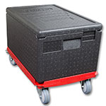 "Cambro EPP180 Cam GoBox™ Top-Loader Food Pan Carrier - 23.6""L x 15.75""W x 12.44""H, Black"