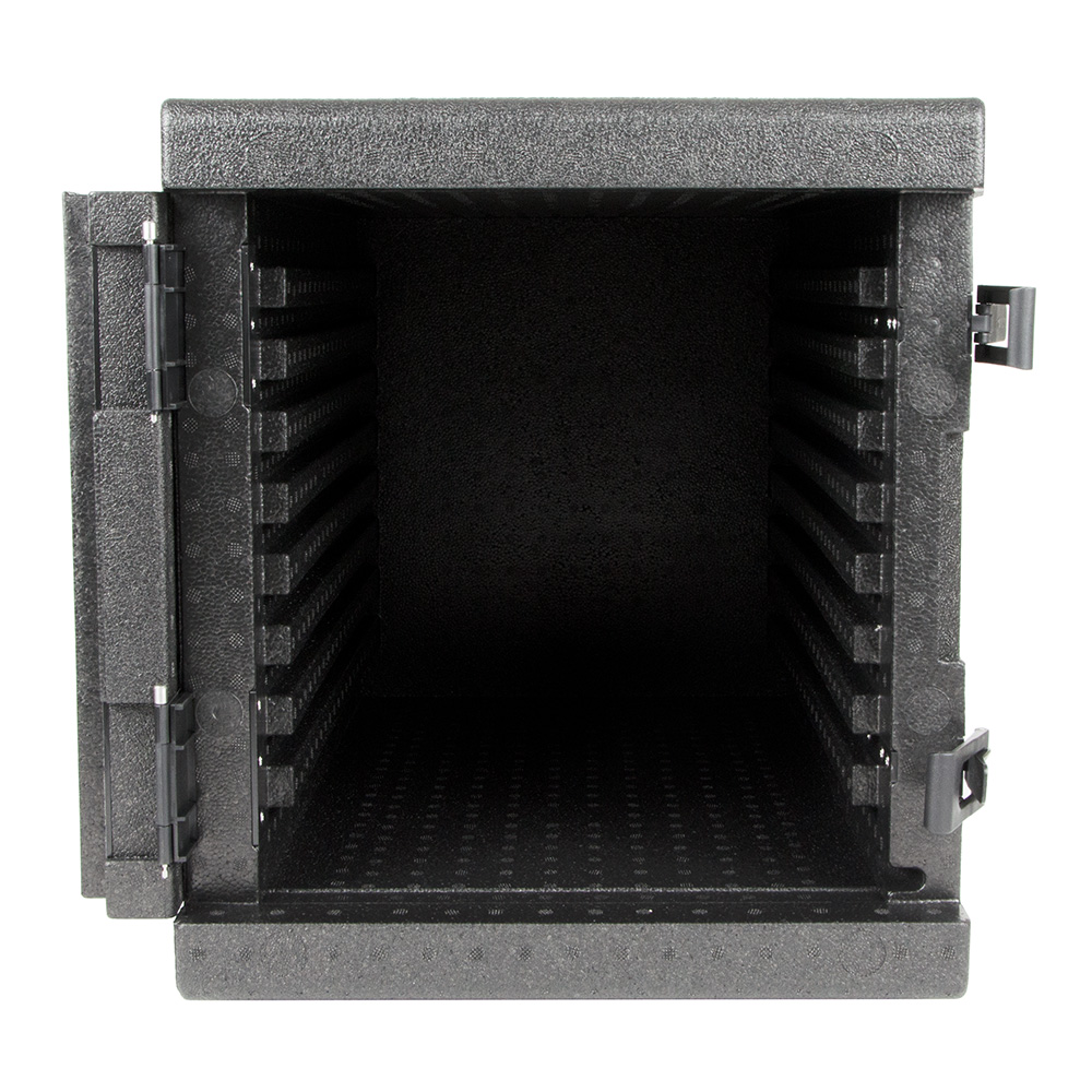 "Cambro EPP300 Cam GoBox™ Front-Loader Food Pan Carrier - 25.4""L x 17.32""W x 18.7""H, Black"