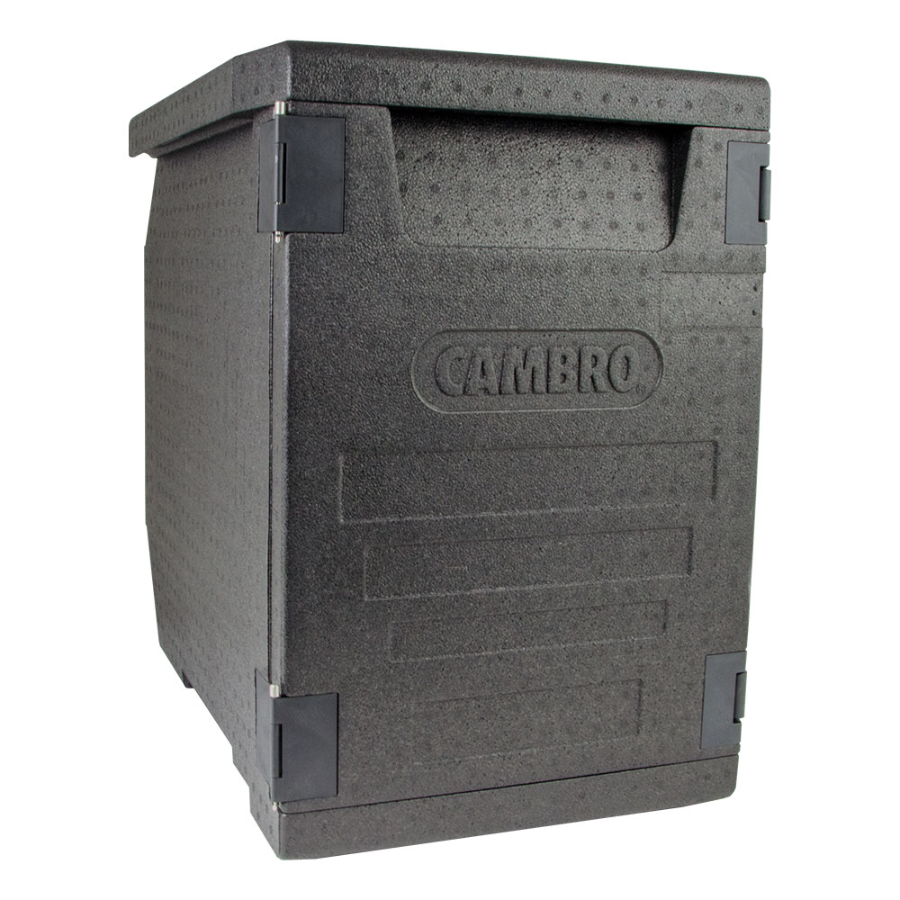 """Cambro EPP400 Cam GoBox™ Front-Loader Food Pan Carrier - 25.20""""L x 17.32""""W x 24.61""""H, Black"""