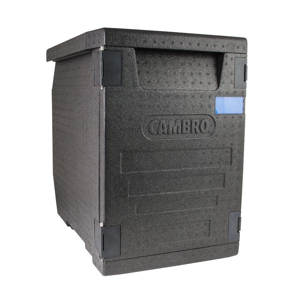 "Cambro EPP400 Cam GoBox™ Front-Loader Food Pan Carrier - 25.20""L x 17.32""W x 24.61""H, Black"