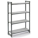 "Cambro ESU215464 580 Camshelving Elements Starter Unit - 21x54x64"" Brushed Graphite"