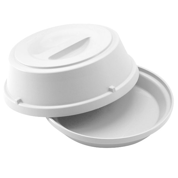 "Cambro HK39148 9"" Camwear Heat Keeper Base with Cover - White"