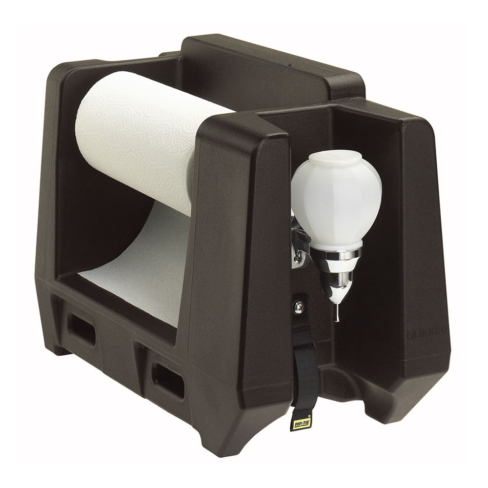 Cambro HWAPR131 Handwashing Station - Roll Paper Towel/Soap Dispenser, Dark Brown
