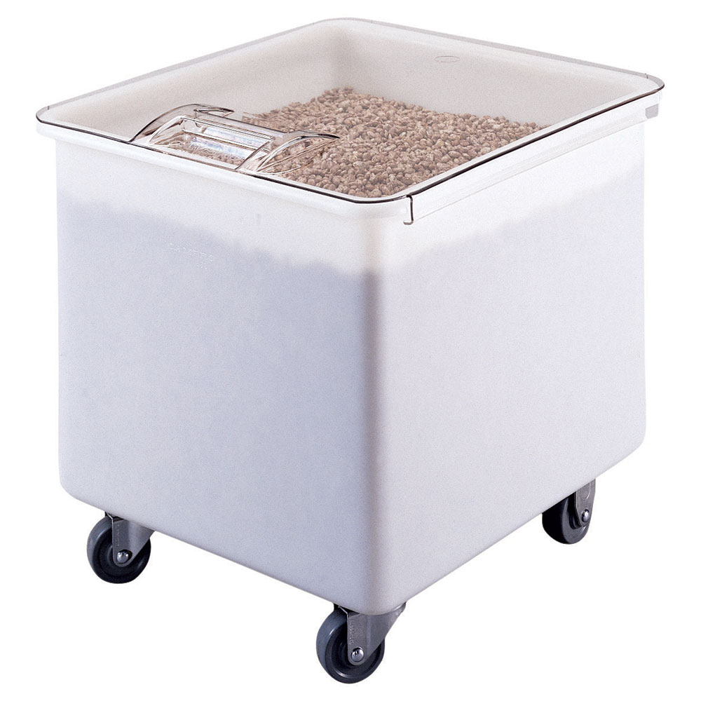 Cambro IB32148 Ingredient Bin, Mobile, 32 Gal. Polyethylene w/Sliding Cover, White