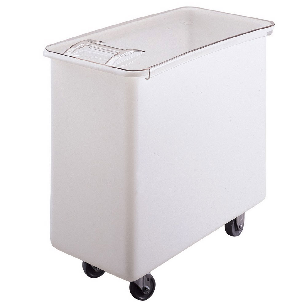 Cambro IB36148 34-gal Mobile Ingredient Bin - Sliding Cover, White