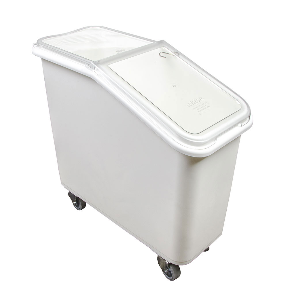 Cambro IBS20148 21-gal Mobile Ingredient Bin - Sliding Cover, White