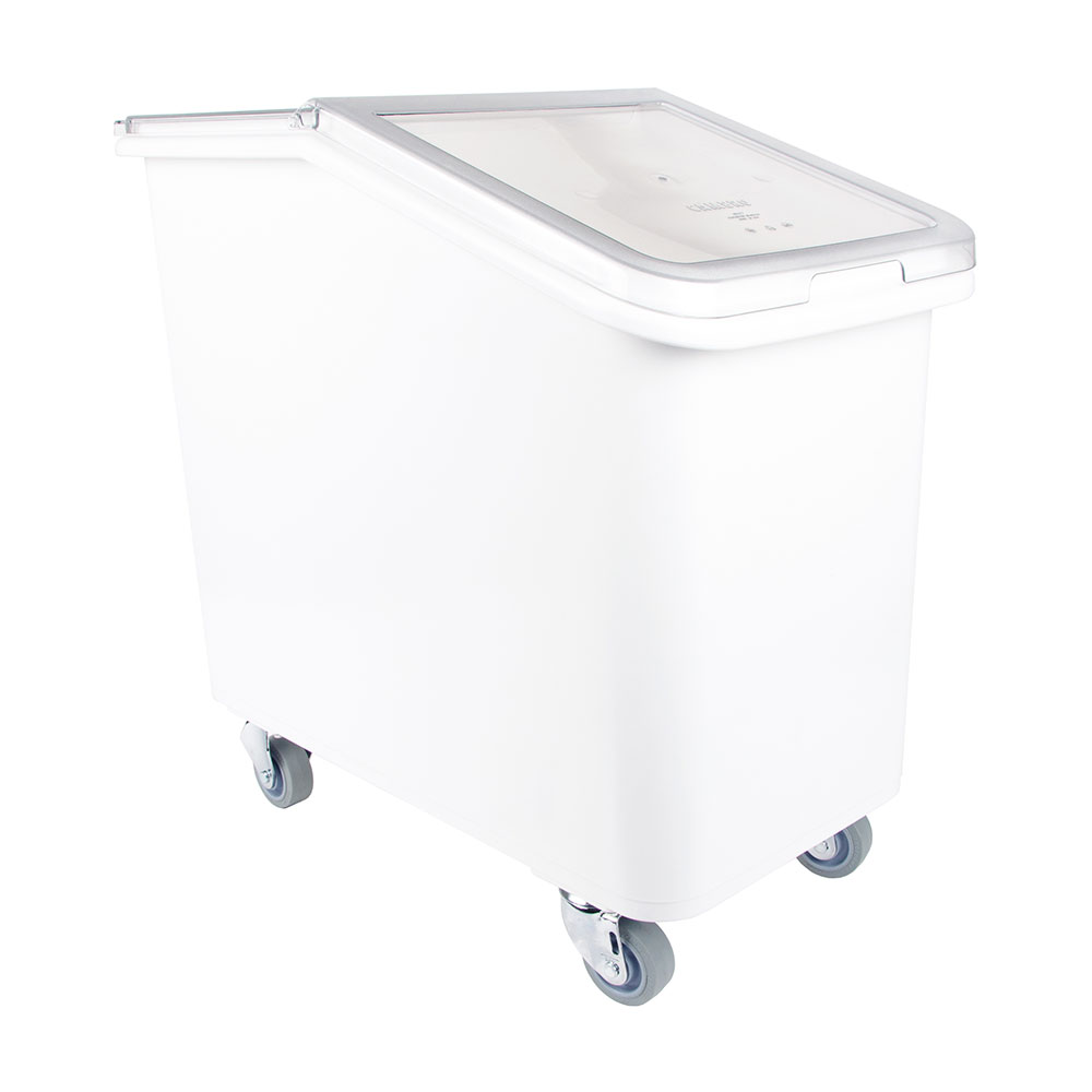 Cambro IBS27148 27-gal Mobile Ingredient Bin - Sliding Cover, White