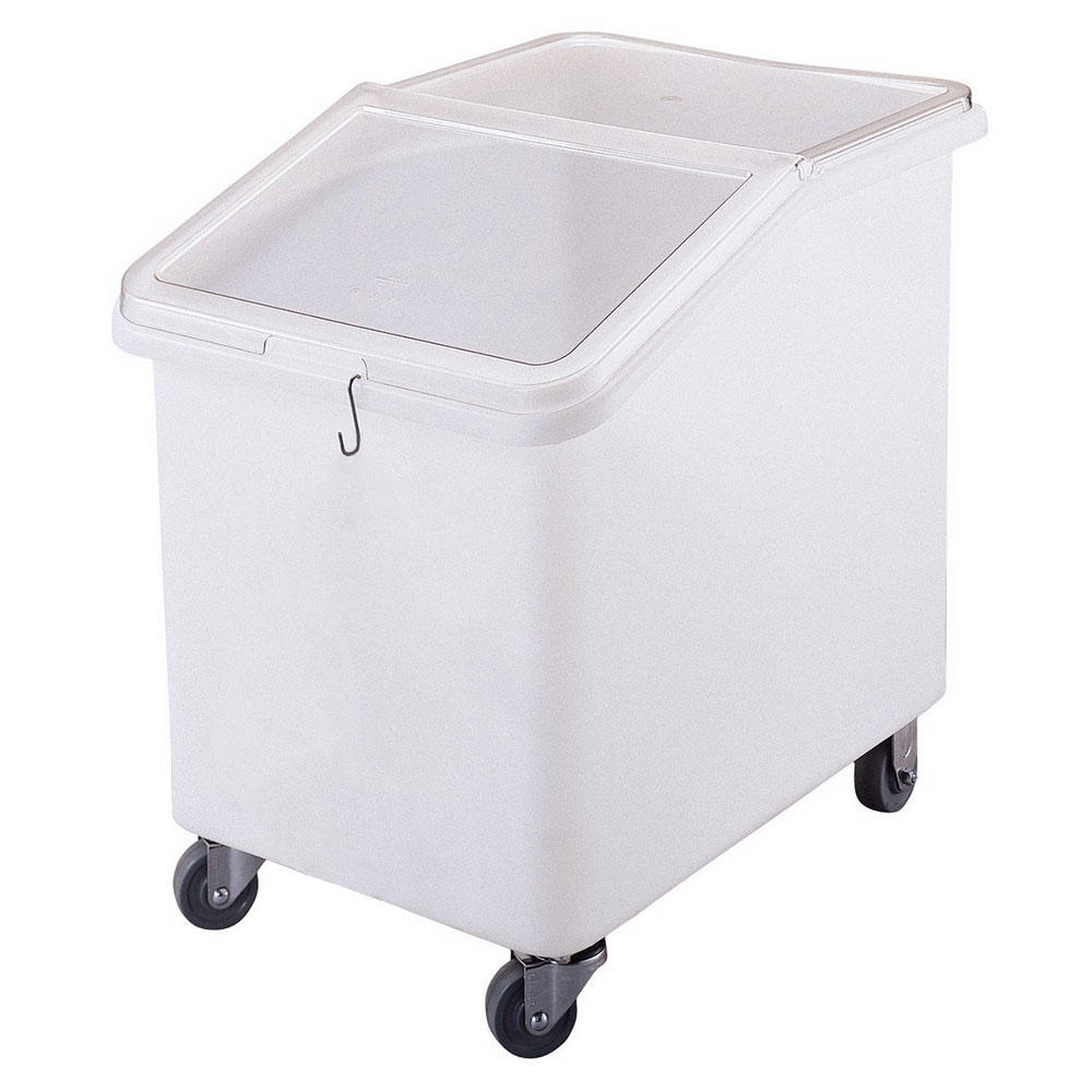 Cambro IBS37148 37-gal Mobile Ingredient Bin - Sliding Cover, White/Clear