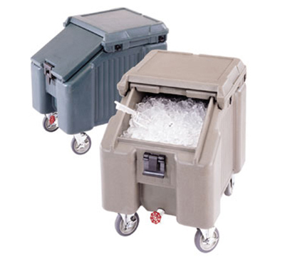 "Cambro ICS100L180 100-lb Ice Caddy - Sliding, Slant Top, 28.75"" H"