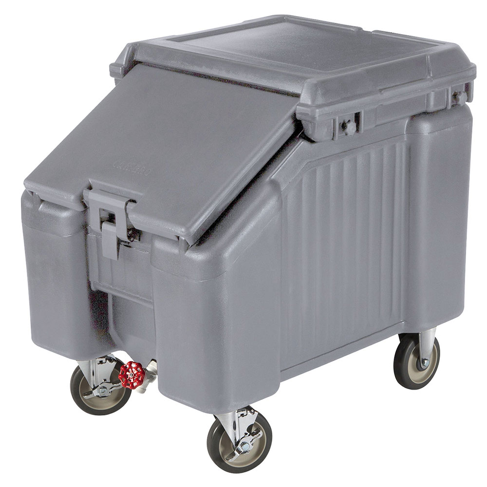 "Cambro ICS100L191 100-lb Ice Caddy - Sliding, Slant Top, 28.75"" H"