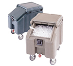 "Cambro ICS100L4S180 100-lb Ice Caddy - Sliding, Slant Top, 28.75"" H"