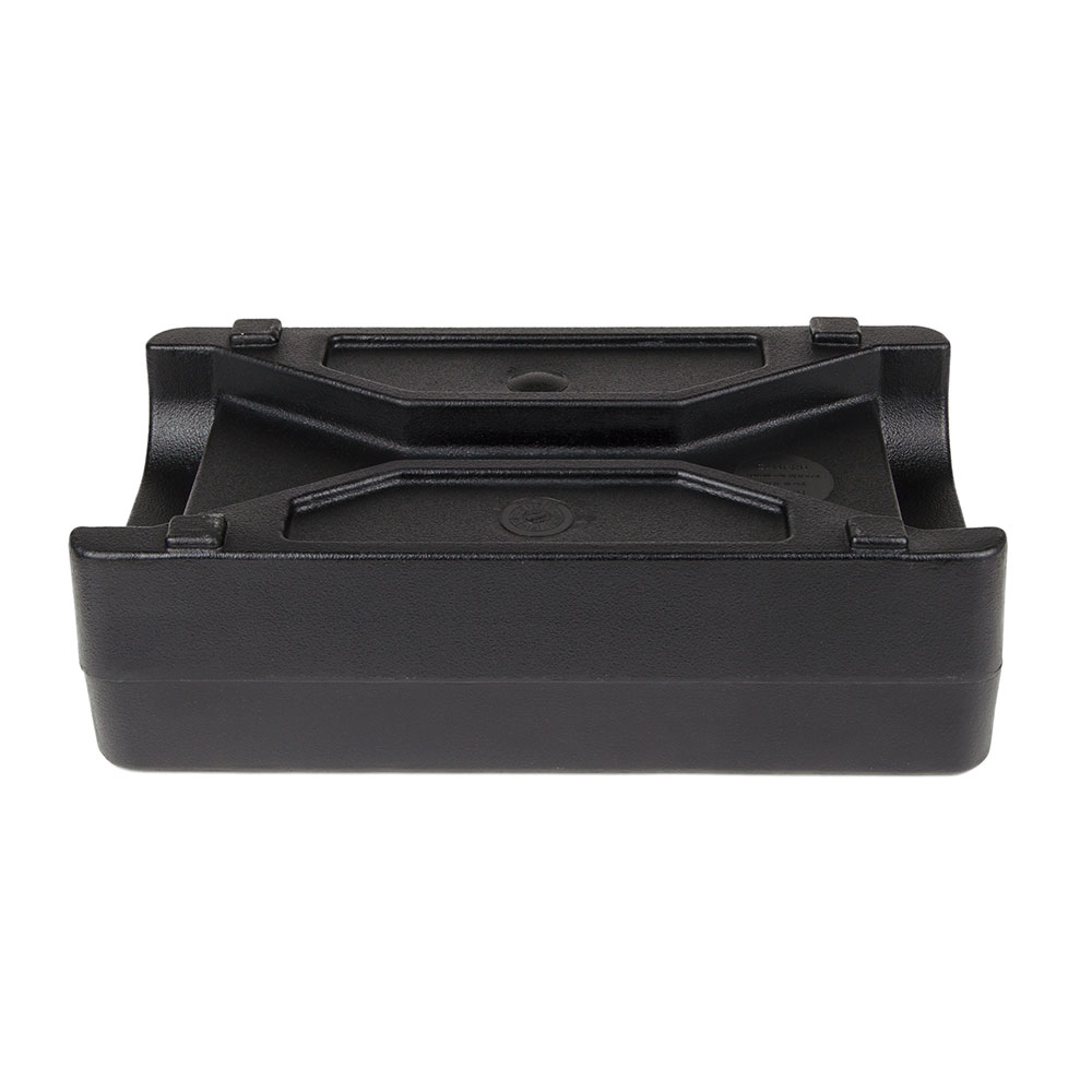 "Cambro LCDCH110 Camtainer Condiment Holder - 16-1/2x8-3/4x5"" Black"