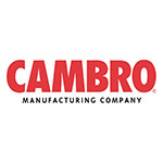"Cambro CSCTL 5"" Locking Swivel Castor with Brake - Zinc"