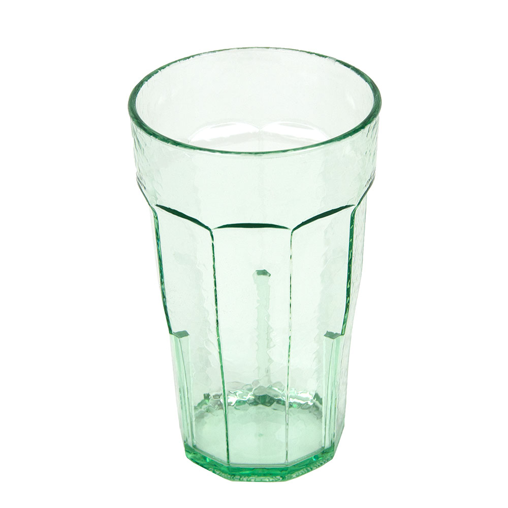 Cambro LT12427 12-oz Laguna Fluted Tumbler - Spanish Green