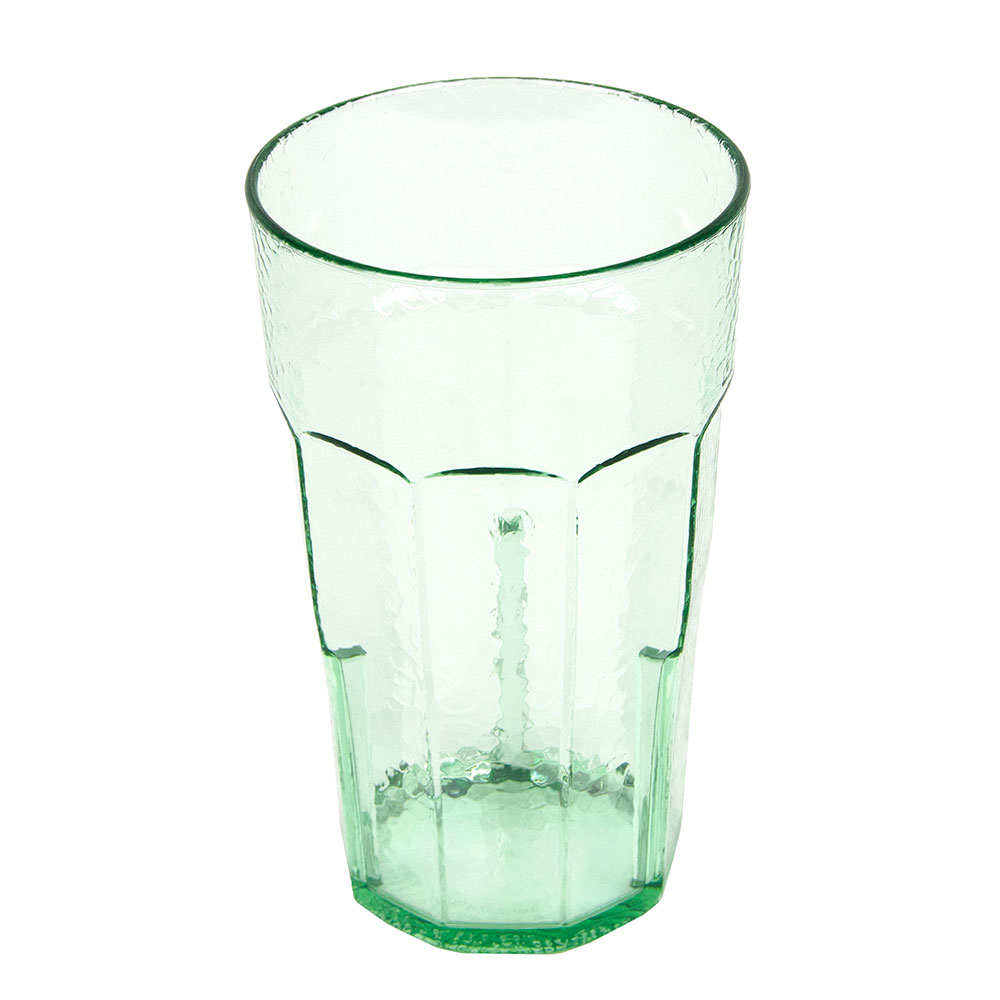 Cambro LT22427 22-oz Laguna Fluted Tumbler - Spanish Green