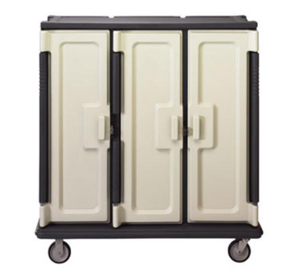 Cambro MDC1411T60180 Meal Delivery Cart Tall Profile 3 Doors 3 Compartments Gray/Cream NSF Restaurant Supply