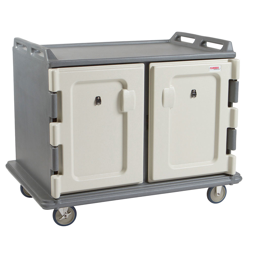 "Cambro MDC1520S20191 Meal Delivery Cart - Holds (20)15x20"" Trays, Granite Gray"