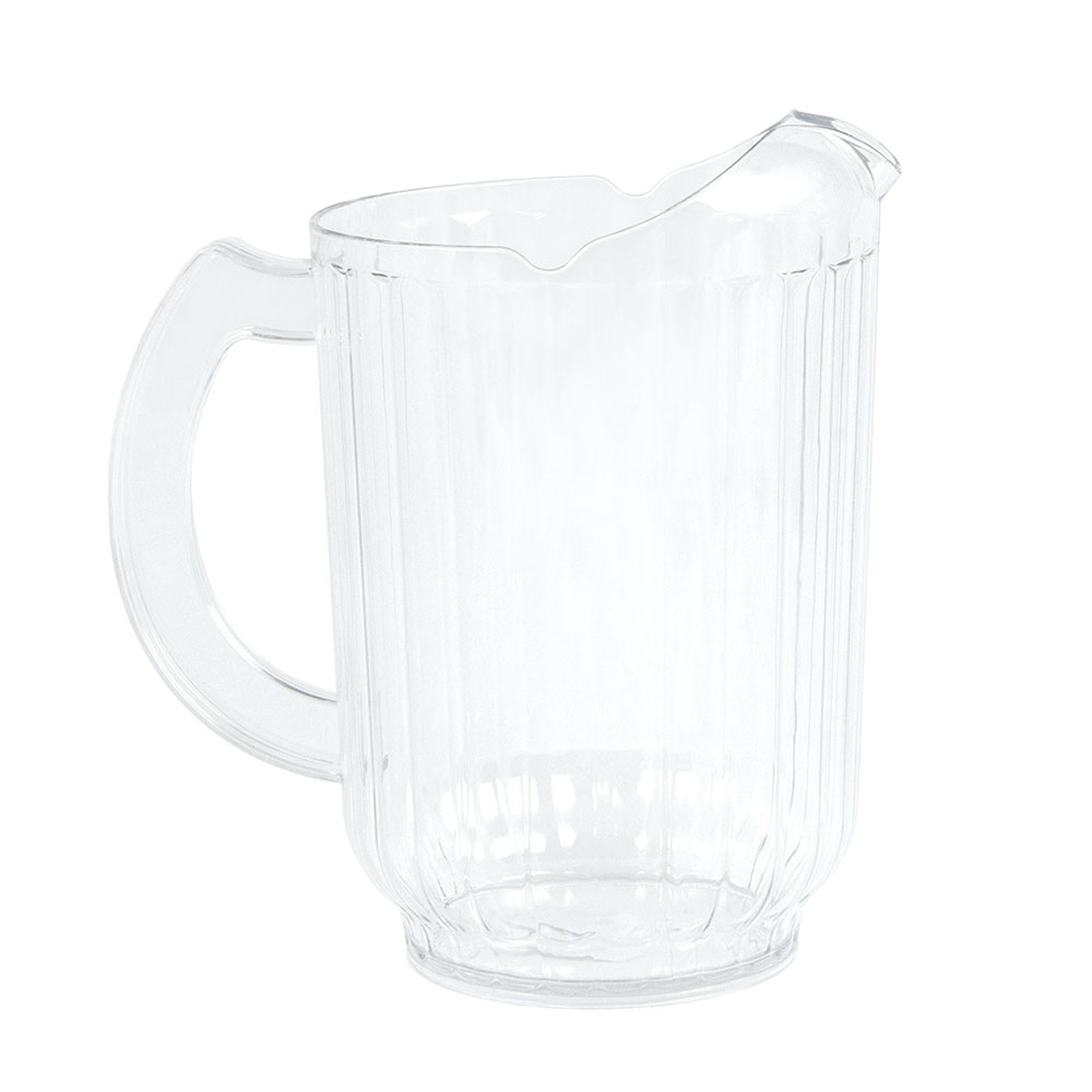 Cambro PE600CW-135-PS 60-oz Camwear Pitcher w/ Ice Control Pour Spout, Poly, Clear