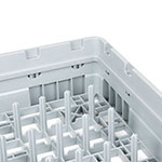 Cambro PR59500151 Camrack 5x9 Peg Rack with Extender - Full-Size, Soft Gray