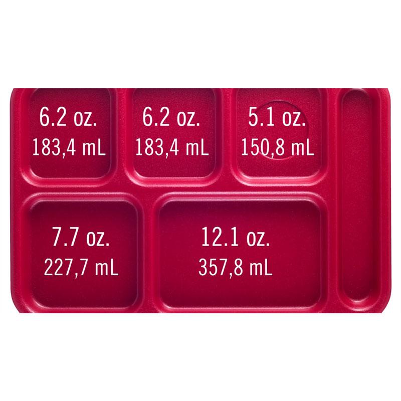 "Cambro PS1014145 Rectangular Penny-Saver School Tray - 6-Compartment, 10x14-1/2"" Yellow"
