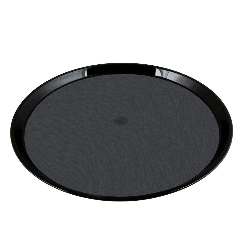 "Cambro PT1600110 16"" Round Polytread Tray - Black"