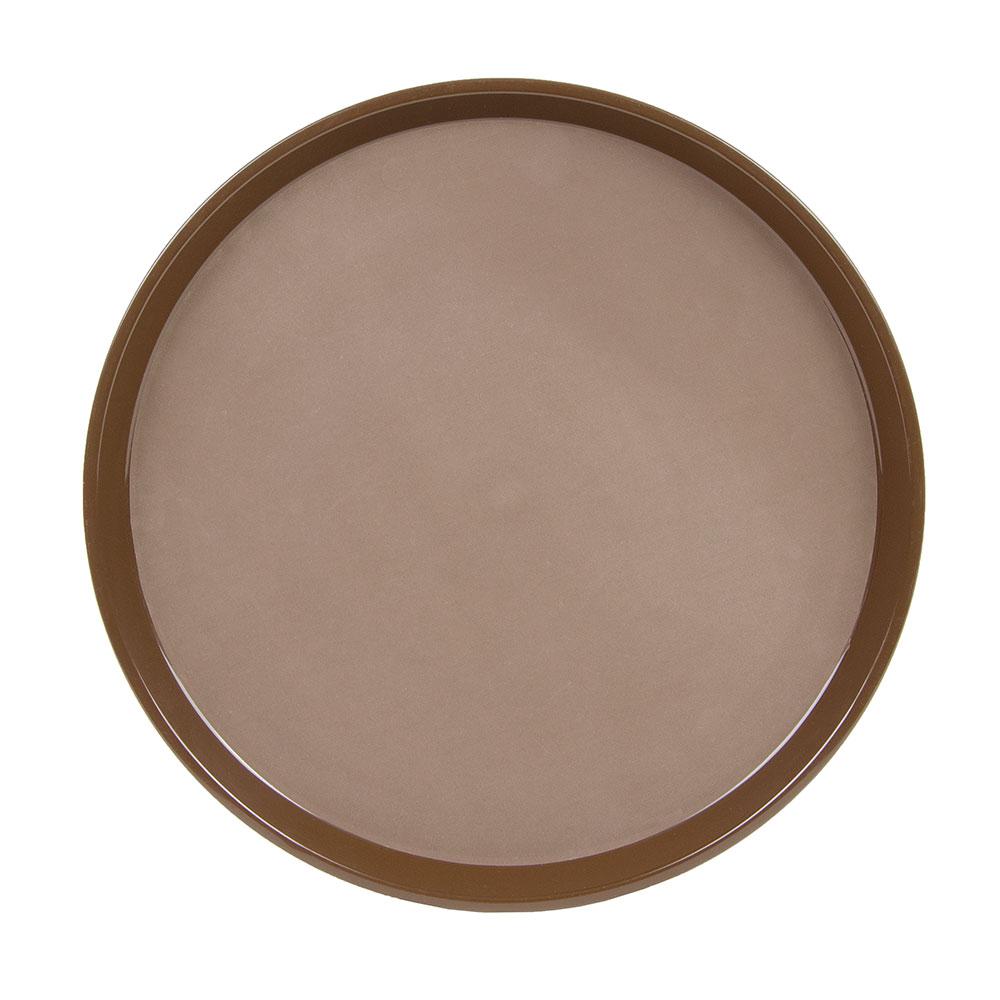 "Cambro PT1600167 16"" Round Polytread Tray - Brown"