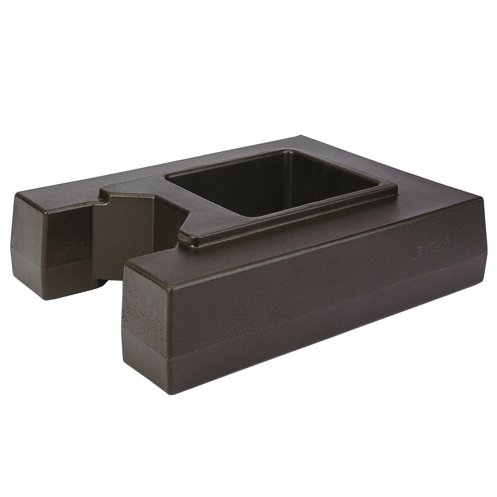 "Cambro R1000LCD131 Camtainer Riser - 19-1/2x15-3/8x4-1/2"" Dark Brown"