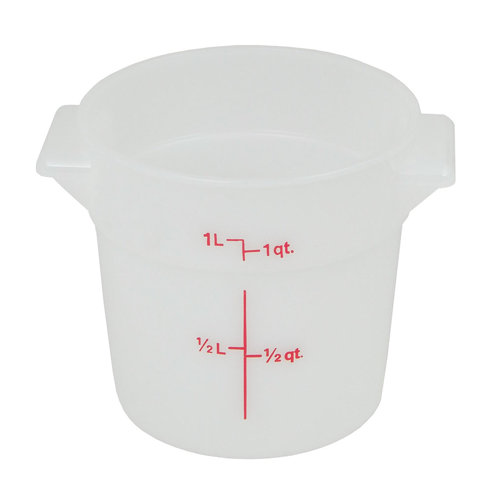 Cambro RFS1148 1-qt Round Storage Container - Natural White
