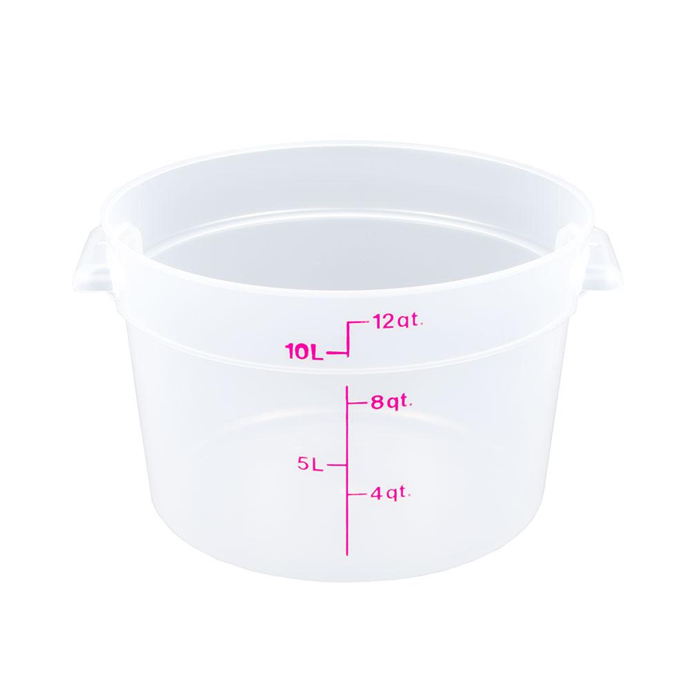 Cambro RFS12PP190 12-qt Round Storage Container - Translucent