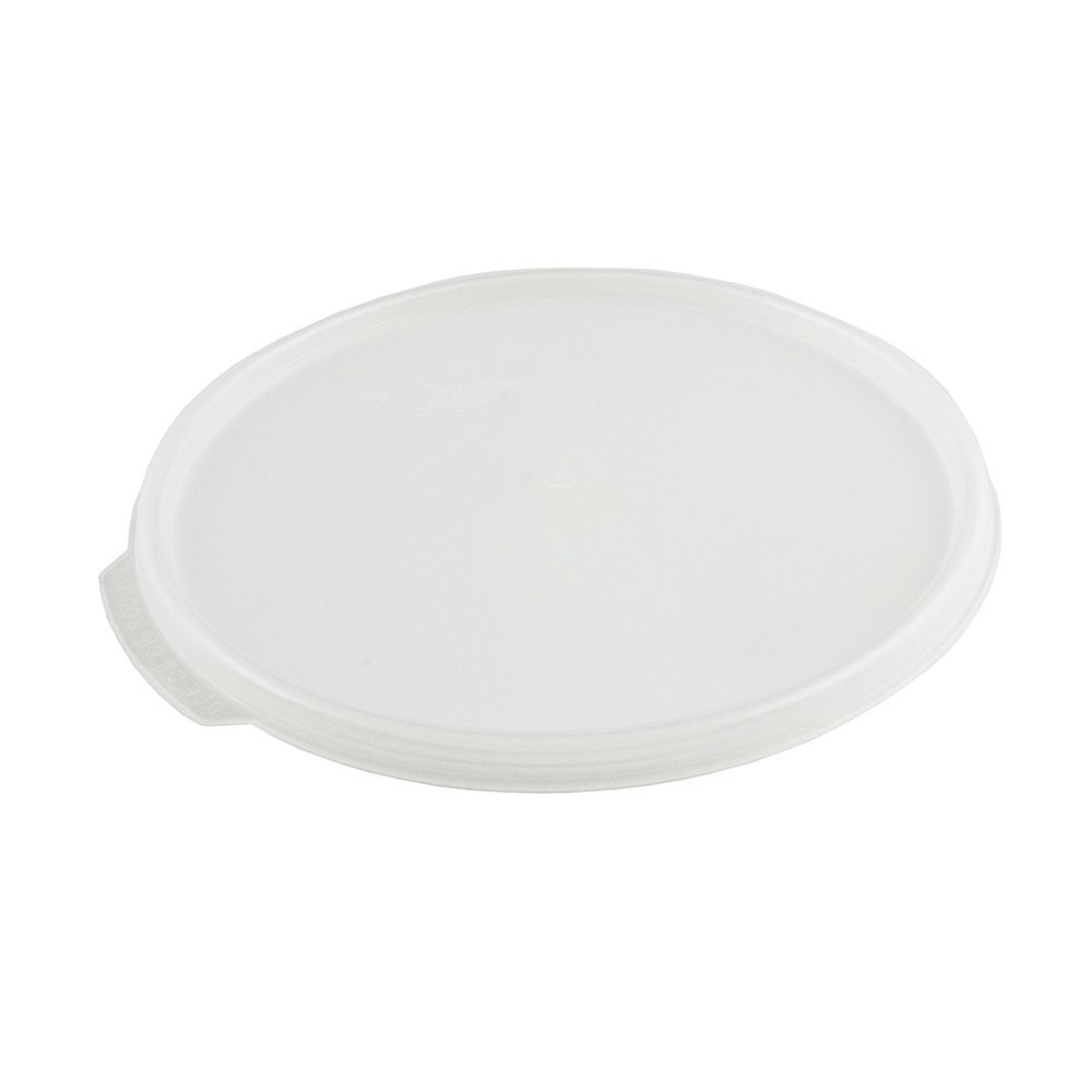 Cambro RFS12SCPP190 Camwear Seal Cover, for 12, 18 & 22-qt Containers, Round, Translucent