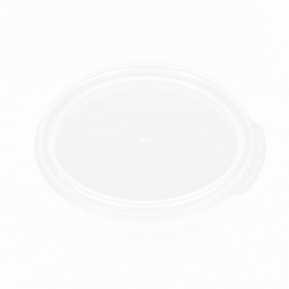 Cambro RFS1SCPP190 Camwear Round Seal Cover - 1-qt, Translucent